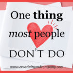 One thing most people don't do
